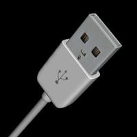 3d model usb plug