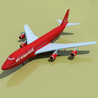 Green Land Airlines 3D Model Boeing 747