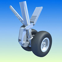 3d model aircraft wheels