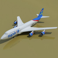 b 747 3d model