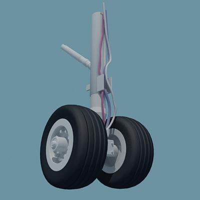 Wheel 3d Model 3d Aircraft Wheels