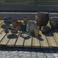 3ds max planting pots