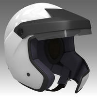 rally helmet car 3d model