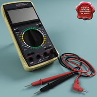 multimeter modelled standard 3d model