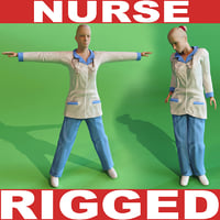 nurse rigged 3d model