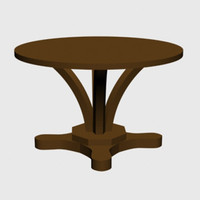 maya pedestal dining table