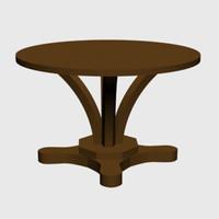 maya pedestal dining table