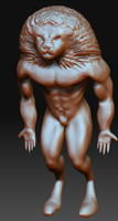 3ds max lion man