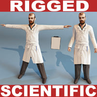 scientific rigged 3d model