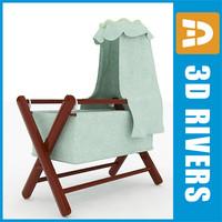 baby bassinet 3d model