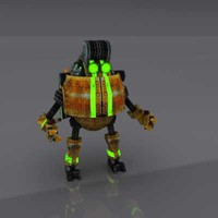 robot thrifty worker 3d model