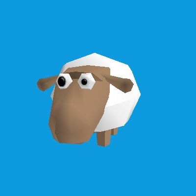 obj funny cartoon sheep - Cartoon Sheep... by dmitkogamez