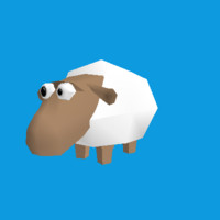 obj funny cartoon sheep