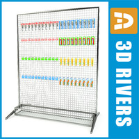 rack shaving display shelf 3d max