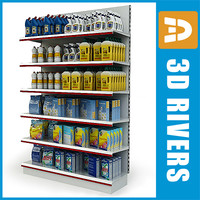 Cleaning supplies display shelf by 3DRivers