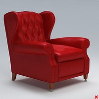 3d chair lounge