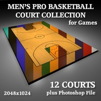 3d men pro basketball courts