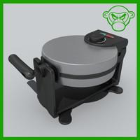 3d waffle iron model