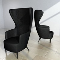 max tom dixon wingback chair
