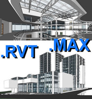 multi purpose building 06 3d max