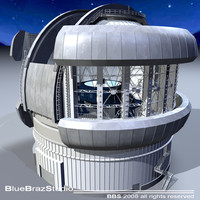 3d model observatory telescope