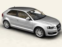 audi a3 3 door 3d model