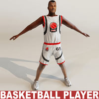 basketball player 3d model