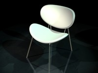 3d chair butterfly model