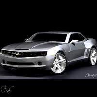 3d model 2009 camaro