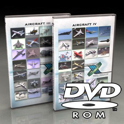3d aircraft dvd-roms dvds iii model - Aircraft III + IV Bundle / DVD Collection... by PerspectX
