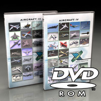 3d aircraft dvd-roms dvds iii model