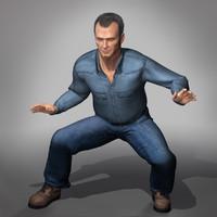 dave man human 3d model