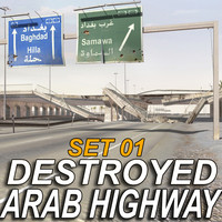 3d arab highway -destroyed- ruined