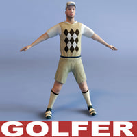 golfer games modelled 3d model