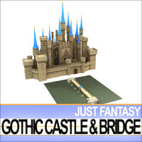 vob vue gothic castle 3d model