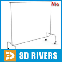 Clothes rack 03 v1 by 3DRivers
