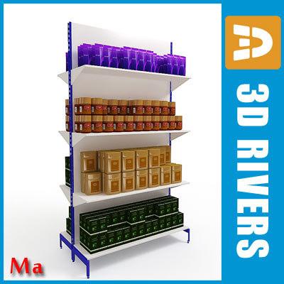 Shelves 01 tea coffee v1 by 3DRivers