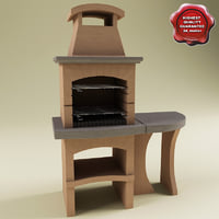 Outdoor Stone Barbecue V2