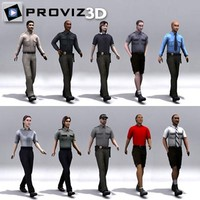 3D People: Walking 3D Security Vol. 01