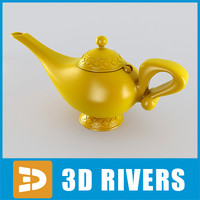 aladdin lamp 3d 3ds
