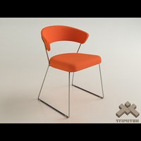 3d calligaris icon dining chair