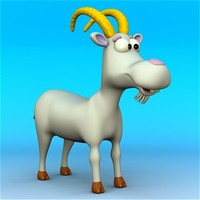 cartoon goat ! 3d max