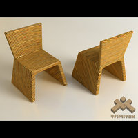 Exotic bamboo chairs