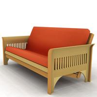 obj futon frame mattress