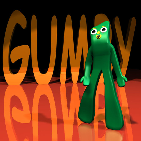 gumby rigged character 01 3d model