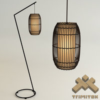 KAI Z Floor Lamp and KAI Lantern-Small set