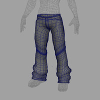 3d model stylized jeans