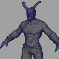 demon pants 3d model