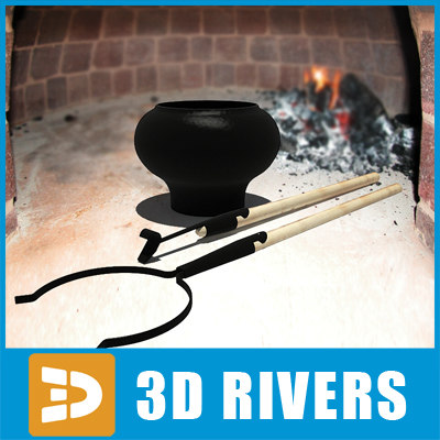 3d model pot oven fork - Pot and oven fork by 3DRivers... by 3DRivers