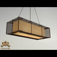 kai rectangular hanging lamp 3d model